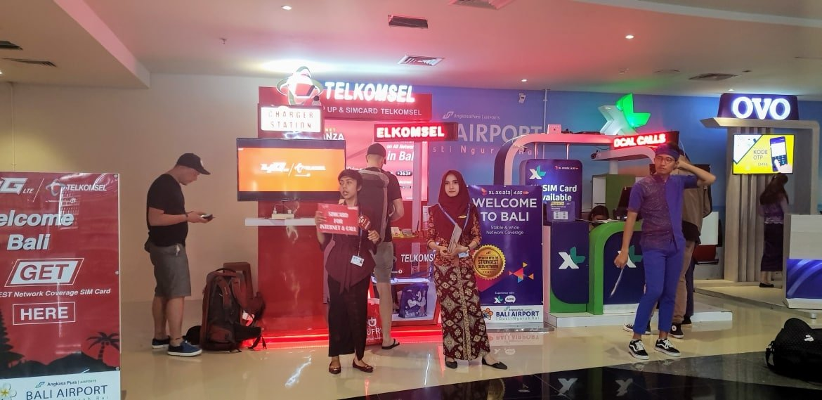 Telecom Kiosks at Bali Airport - Bali Holiday Secrets
