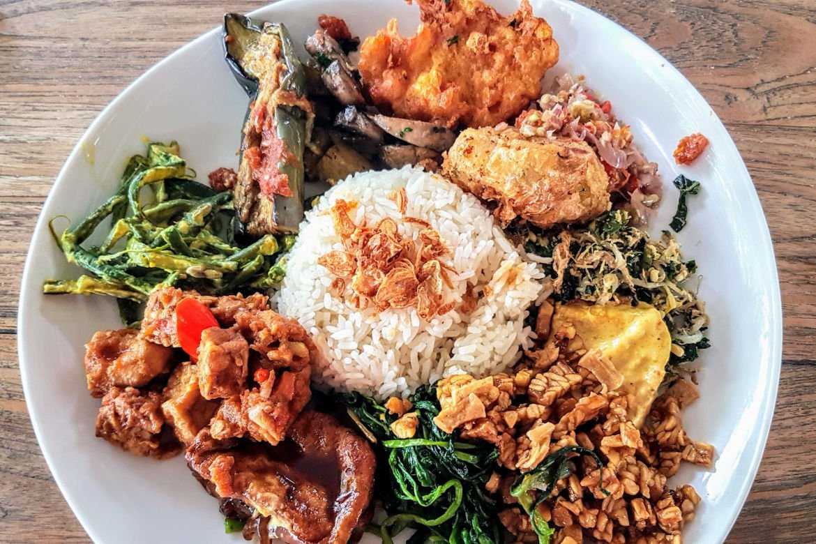 Nasi Campur at Nook - Indonesian food you must try in Bali