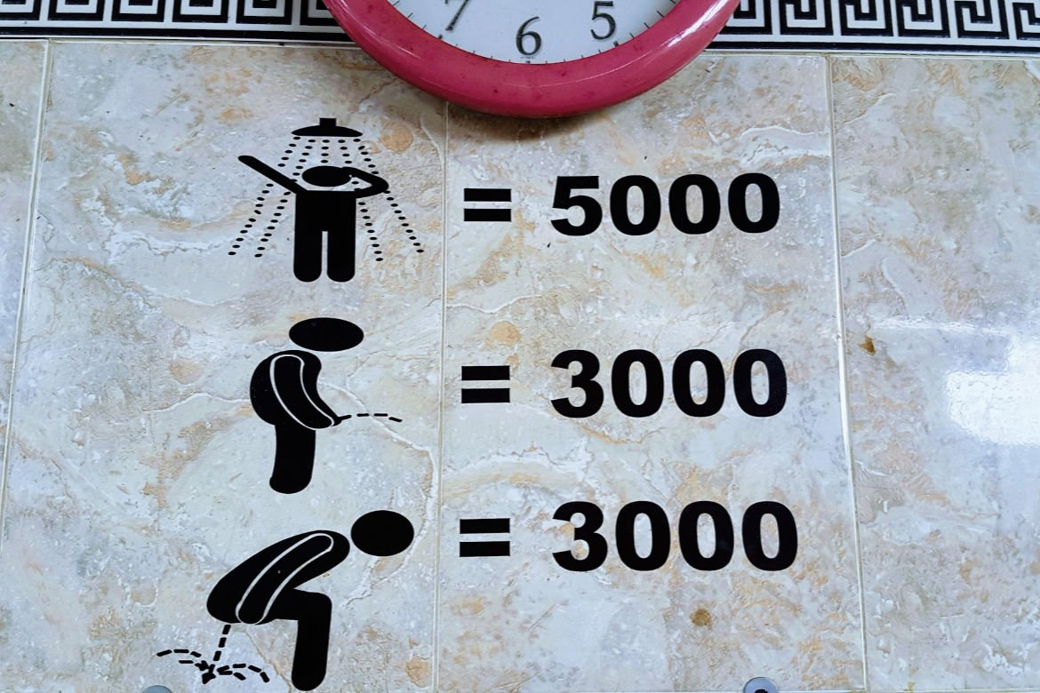 Toilet Sign at Tegenungan Waterfall